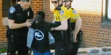 In a video of the arrest, it appears the officers dragged Gray to a police van while he screamed out in pain