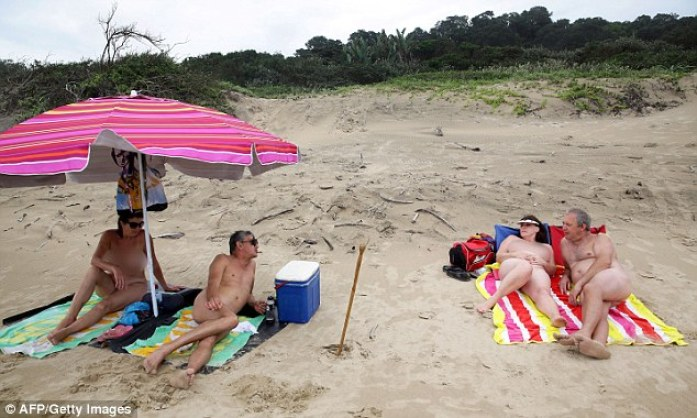 Despite the beach being declared official for nudists, some locals remain against the idea