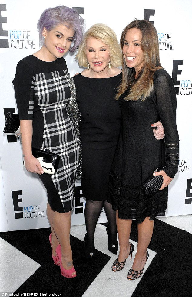 Continue the legacy: The 30-year-old, pictured here with Joan and Melissa in 2012, said she screamed in delight when she was told the news