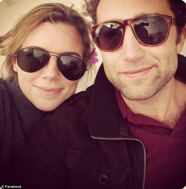 She'll be missed: Kate, pictured here with a male friend, was taken to a hopital after the shooting where her mother caressed her face one last time