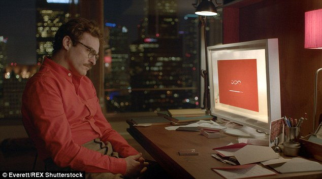 In addition to having physical relationships with machines, advances in artificial intelligence could enable  computer programs to become realistic enough to fall in love with. This was explored in the 2013 film Her, which saw Joaquin Phoenix's character (pictured) fall in love with a Siri-like operating system