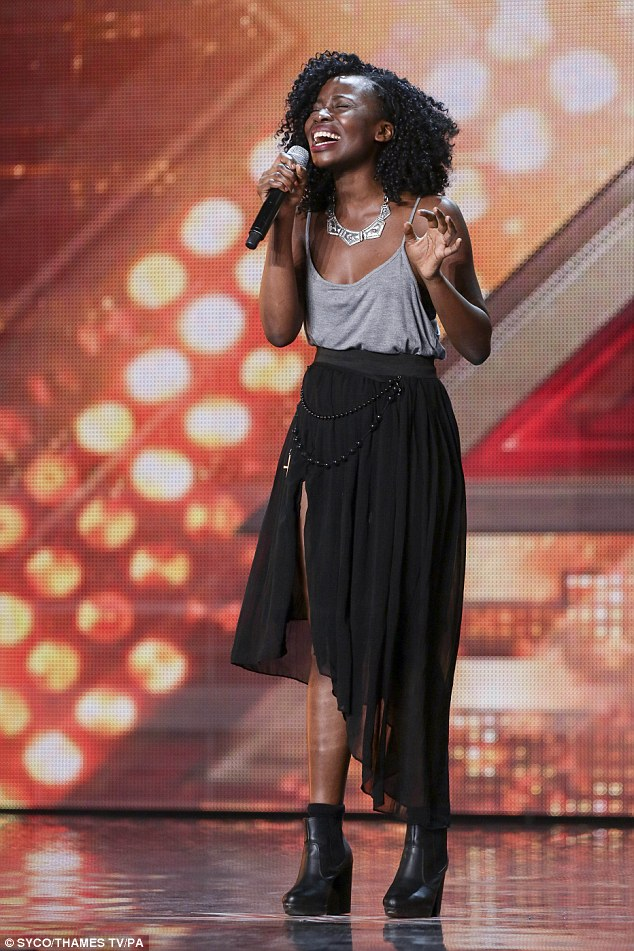 Singing her heart out:Sharon Rose seemed to belt out her tune in the first audition