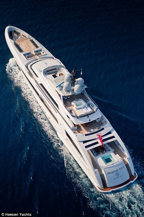 Luxurious: The 3.5 metre jacuzzi, located at the back of the Galactica, gives incredible ocean views