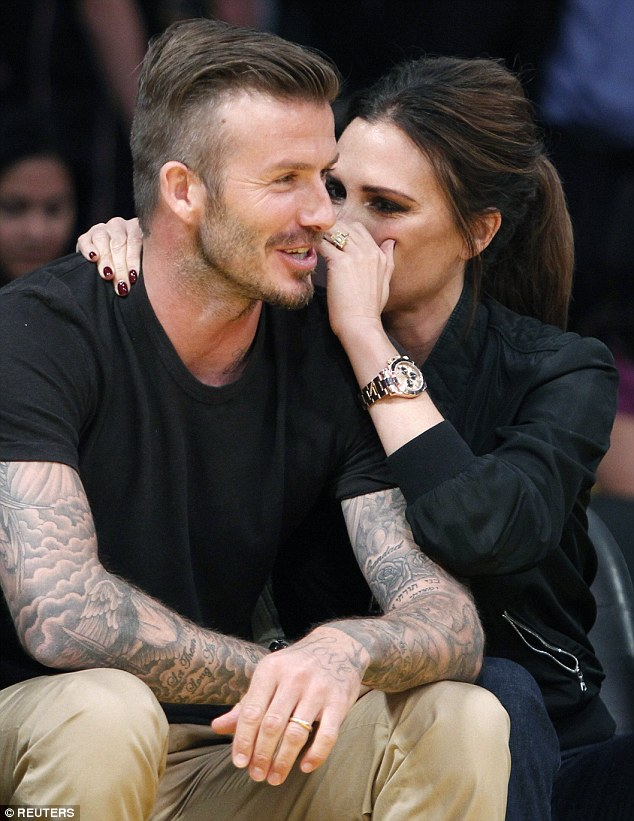 David Beckham and Victoria at a basketball game in Los Angeles, in May 2012. It was in 2012 that David infamously spent a few hours chatting to opera singer Katherine Jenkins — an encounter she later made explosively public by denying they had been intimate