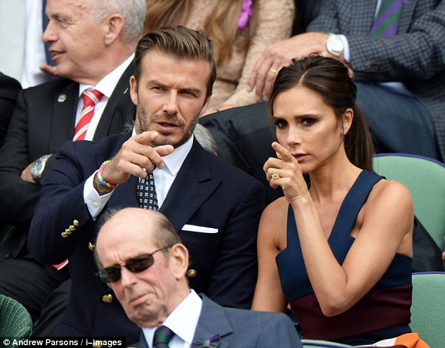 David and Victoria in the Royal Box at the Wimbledon Men's Final in July 2014.It is fair to say that this habit of spending time apart started early in the marriage