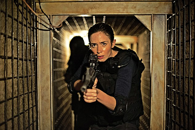 Class A act: Emily Blunt as Katie Macer, who having established her credentials as an FBI ransom negotiator, is invited to join a shadowy taskforce
