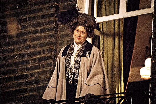 Meryl Streep as the formidable Emmeline Pankhurst, who urged women to commit 'civil disobedience'