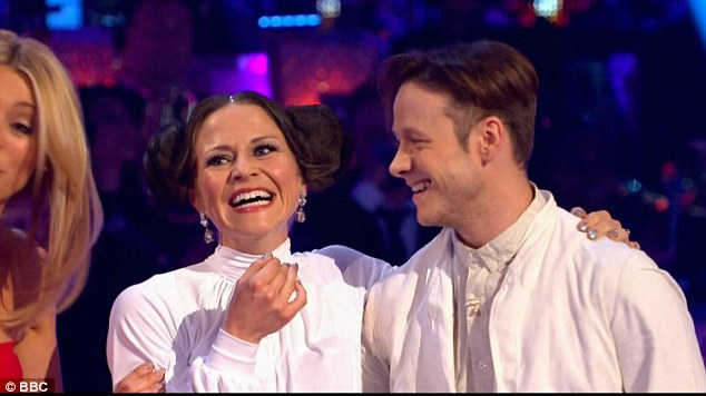 Wowing the crowd:Kellie stunned audiences as she and professional Kevin Clifton danced to the Star Wars theme tune and acted as Princess Leia and Luke Skywalker respectively