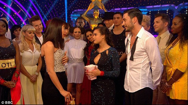 Scolded:They received some comments regarding the style of the Rumba which led to Len Goodman becoming outraged with Giovanni