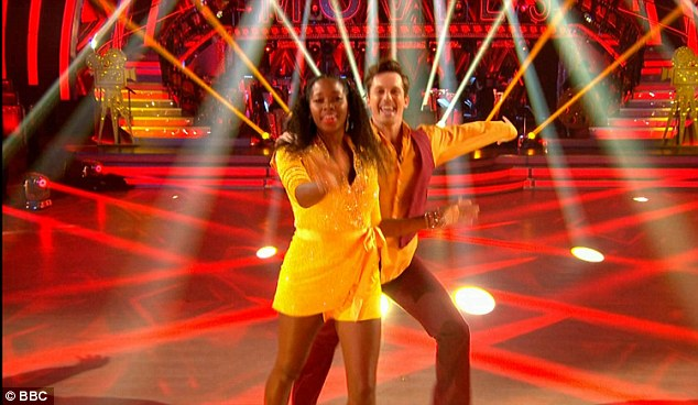 Jazzy:Jamelia doing the salsa from Charlie's Angels with Tristan McManus to 1976 hit Heaven Must Be Missing An Angel