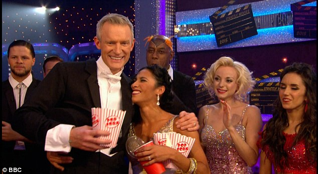 Positive:Broadcaster Jeremy Vine channelled Fred Astaire as he danced the Charleston from the movie Top Hat with professional Karen Clifton