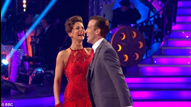 Laughing off the comments:Despite scoring a high 28 last week, Katie was knocked down to a 20 after the judges accused her of failing to impress