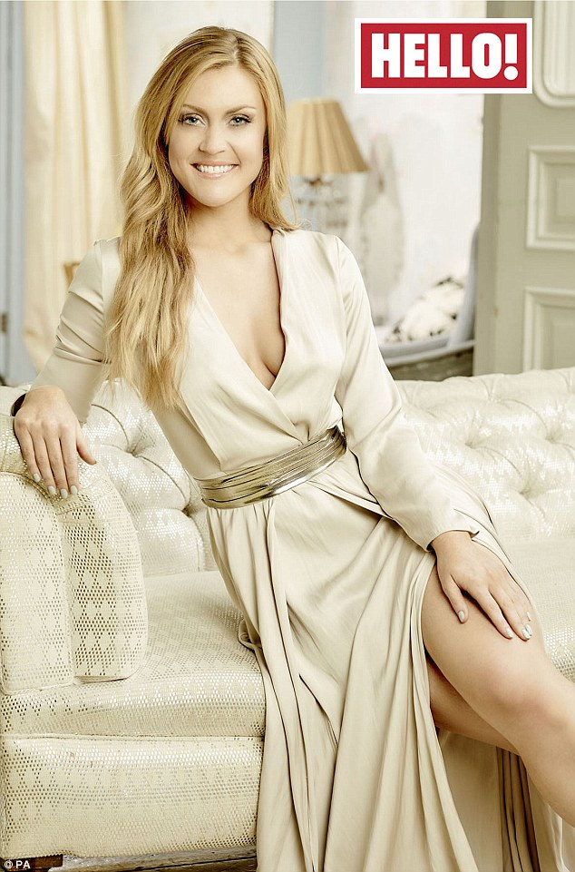 Revealing all: Camilla Kerslake has opened up in an interview in Hello! magazine, about her romance with England rugby captain Chris Robshaw and the difficulties she faces as a WAG