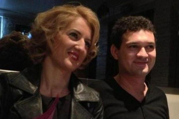 Love: Romanian victims Lacrimioava Pop and Ciprian Calciu, had a child together