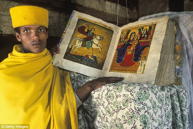 Ethiopians are in love with their own unique and beguiling culture. The men wear flowing robes and the women have crosses tattooed on their foreheads