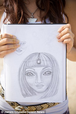 The mothers make drawings of what their hybrid children look like and while they have human characteristics, most display reptilian features with big black eyes