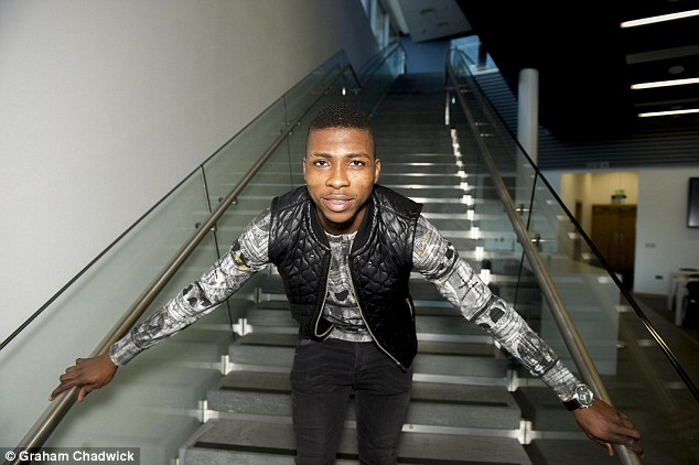 Kelechi Iheanacho, who has been a revelation this season, poses for a picture at City's training ground