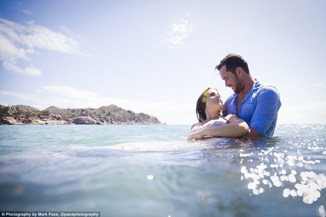 Raw moments:'I normally try to shoot in a secluded location so my clients can relax and interact with each other naturally without feeling pressure from a crowd,' photographer Mark Pace told Daily Mail Australia
