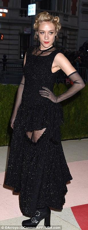Edgy looks: Actors Chloe Sevigny, Zoe Kravitz and Lena Dunham wore classic black with unique twists
