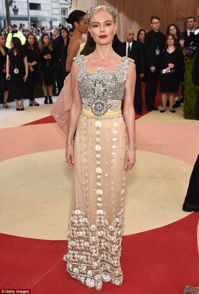 Goddess: Kate Bosworth stunned at the star-studded Met Gala in New York City on Monday