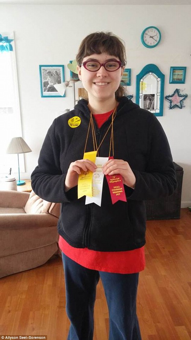Hallee pictured here after a recent 'special Olympics' will be having a birthday party with family this year