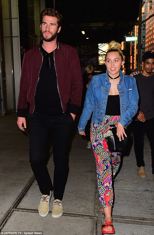Love in the Big Apple: Miley Cyrus reunited with Liam Hemsworth for a dinner date at the member's only Soho House in Manhattan's Meatpacking district on Tuesday evening