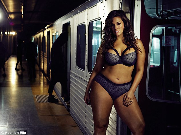 Long-running partnership: The campaign is for Ashley's 10th branded collection with the Canadian plus-size retailer
