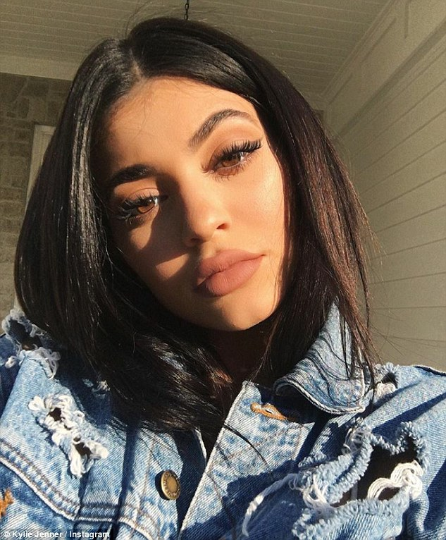 Posing and pouting; Kylie - the youngest member of the Kardashian/Jenner clan - shared the images, which appeared to be taken at her new home in the Hidden Hills community, with her 64.4million followers