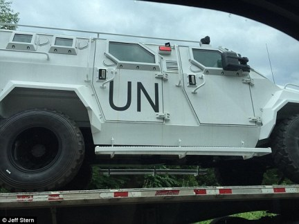 U.N. vehicles have been spotted in Virginia, shocking motorists and sparking conspiracy theories