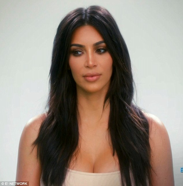 Feeling down: Kim Kardashian was disappointed in herself for missing husband Kanye West's music video performance in Iceland during Sunday's episode of Keeping Up With The Kardashians