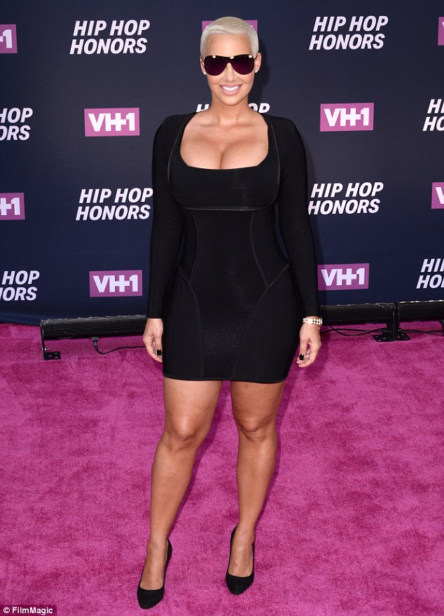 Hostess with the mostess: Amber Rose looked great as she arrived at the 2016 VH1 Hip Hop Honors: All Hail The Queens event,  as she hosted red carpet festivities in New York City on Monday
