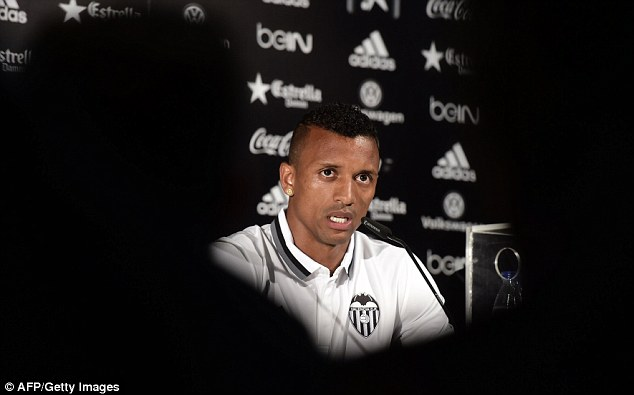 The former Manchester United man told fans he hoped to stay at Valencia for a long time to come