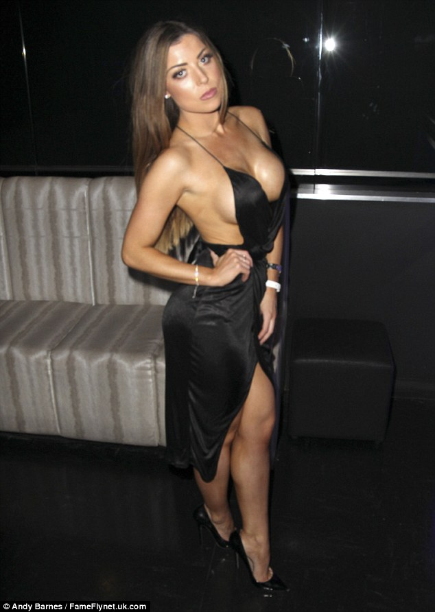 Raunchy: Abi Clarke didn't disappoint as she partied the night away at the Essex House in Chingford and Club 195 nightclub in Epping on Saturday night