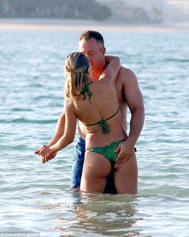 Cheeky! Ola Jordan's relationship with her husband James is clearly hotter than ever as they soaked up the sun during a sun-soaked getaway to Dubai