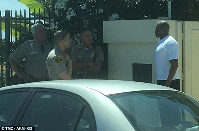 Dre was seen speaking with deputies after he'd asked a driver blocking his driveway to move prompting the guy to start yelling at him and then claim Dre had a gun. Deputies did not find a weapon