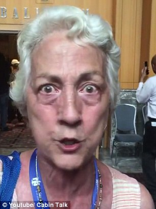Portia Boulger (pictured) ranted about Donald Trump and Hillary Clinton in a video that's gone viral