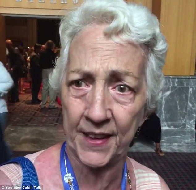 She was filmed speaking after Sanders' speech at the Democratic National Convention on Monday