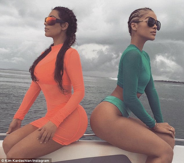 Social media maven: Later she also posted a snap to Instagram of her and her friend sitting back to back, apparently still on a boat