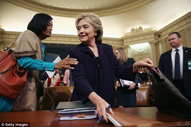 Phone logs from Cheryl Mills's office (Mills pictured left with Clinton last October) published this week showed Mills corresponded extensively with the Clinton Foundation's chief operating officer