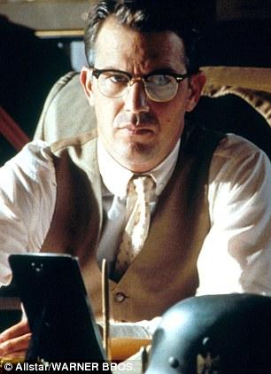 Kevin Costner as Jim Garrison in the 1991 film