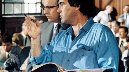 Stone (right, with Kevin Costner on the set of JFK) said he believed the agent because of his use of 'military jargon' and intricate detail