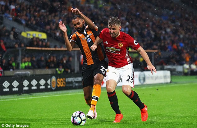 Luke Shaw has featured in all three of Manchester United's opening three games of the season