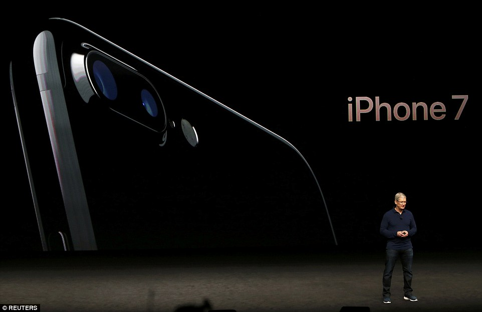 The iPhone 7 will be waterproof and have stereo speakers instead of a headphone jack. It will also be available in two new black colours, and the larger iPhone 7 plus will have a dual lens camera, Tim Cook revealed at an eagerly awaited event in San Francisco.
