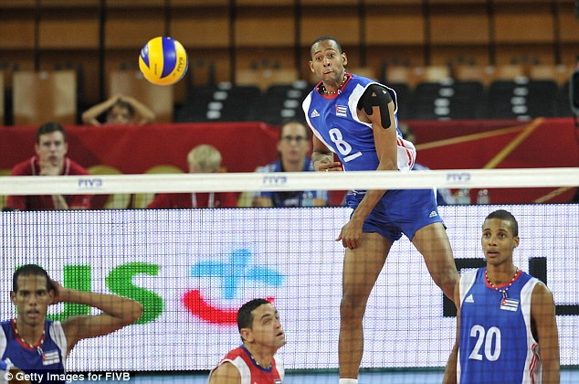 Rolando Cepeda Abreu of Cuba serves the ball during the FIVB World Championships match between Cuba and Canada. He has been jailed for five years