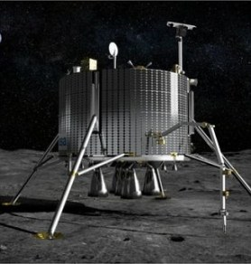 Earlier this year the European Space Agency said it planned to work with Russia on its mission to land on the moon (right)