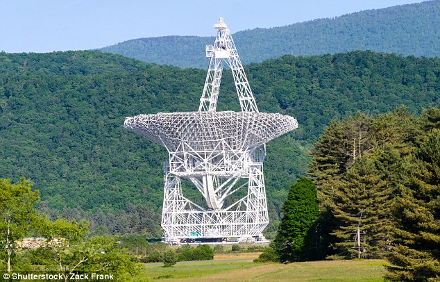 As part of the project, astronomers will use the Green Banks radio telescope in West Virginia (pictured) for three nights over the coming months to listen to Tabby's star, with all hailing frequencies open