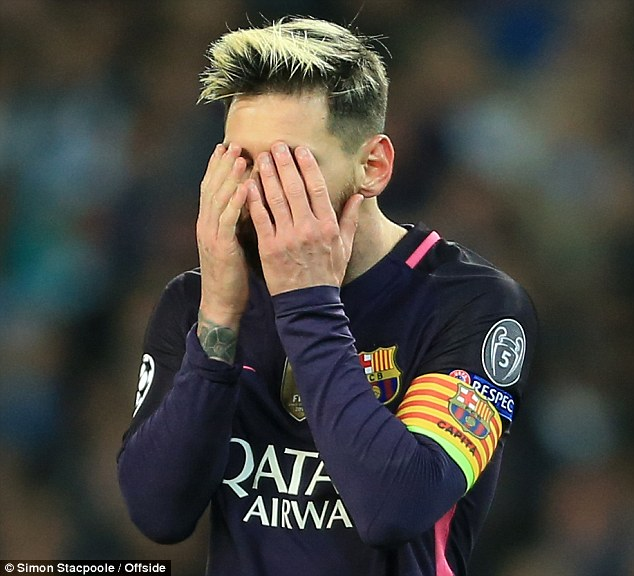Messi is reported to have been involved in a heated exchange after the Champions League tie