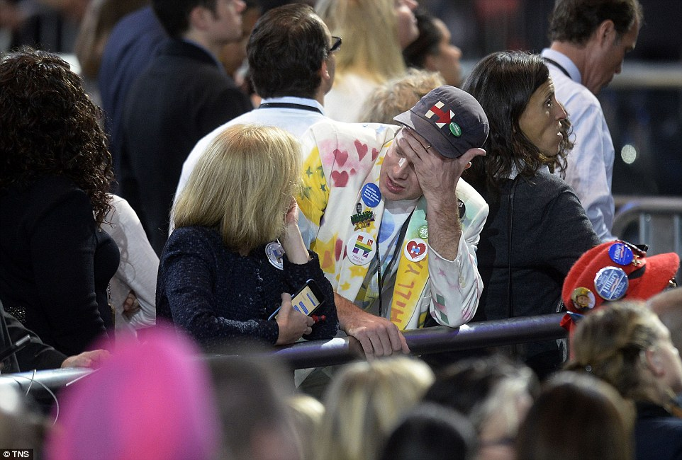Disbelief: Many voters couldn't seem to understand how their candidate had failed so badly