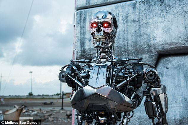 The expert says that any society that¿s invented radio ¿ including our own ¿ will ultimately invent its own successor in the centuries to come, shifting toward an all-digital civilization. A scene from Terminator Genisys is pictured