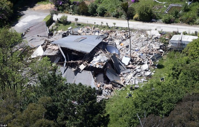 Ruins:The earthquake destroyed Elms homestead killing resident Louis Edgar in Monday's 7.8-magnitude quake